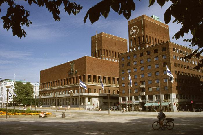 Oslo -The City Hall at Rådhusplassen