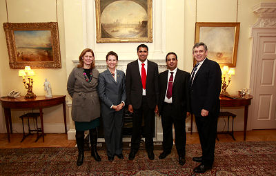 With PM Gordon Brown, Mary Creagh MP and Sarah Brown