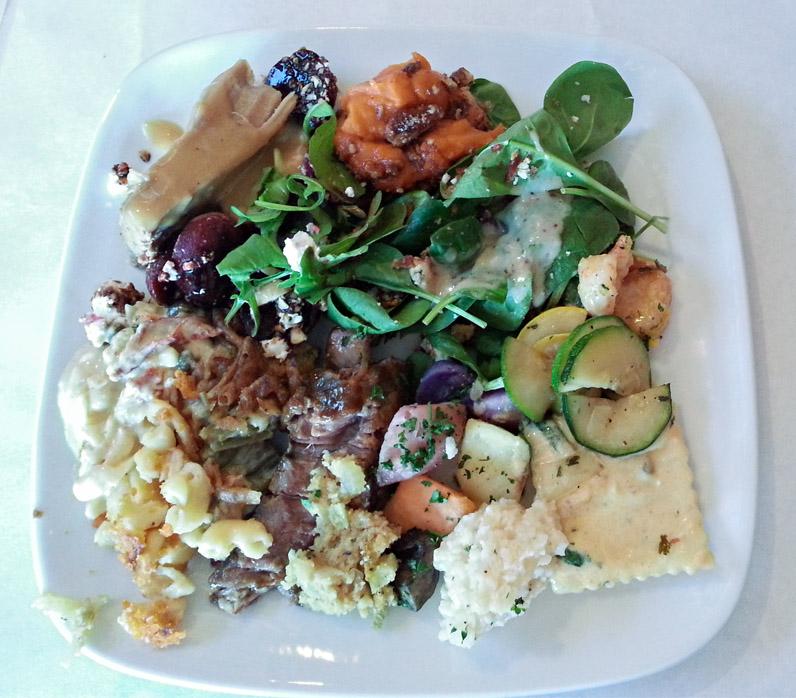 Never Blue Thanksgiving Buffet Plate
