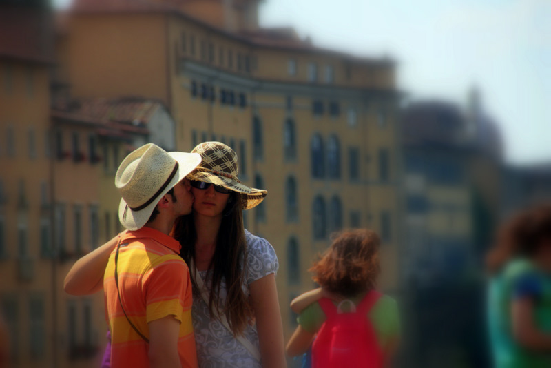 Lovers in Florence, Italy