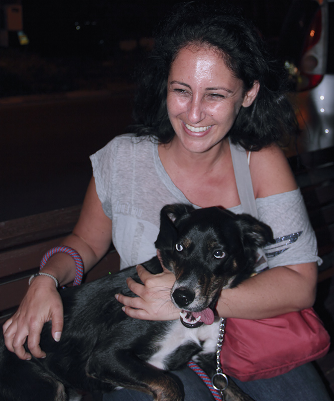 Justine and her dog