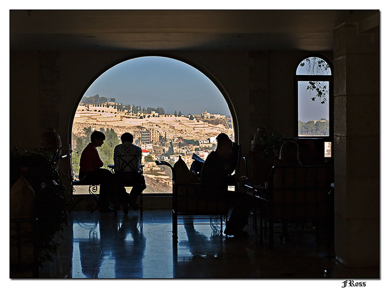 Mount of Olives through the Window