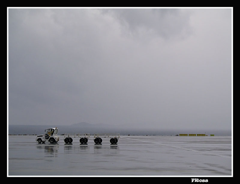 Raining on a arrival at Heraklion Airport