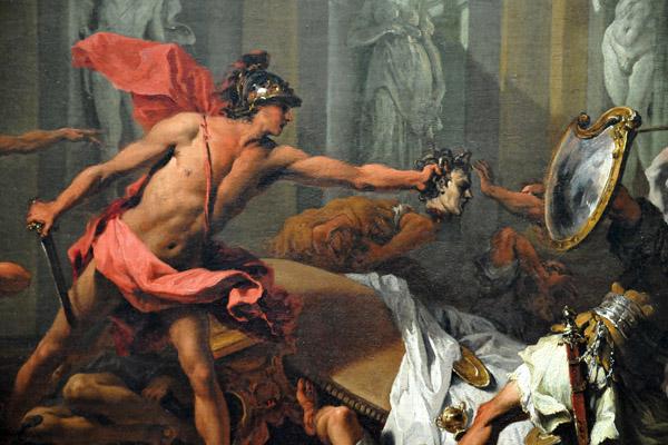 Perseus Confronting Phineus With The Head Of Medusa