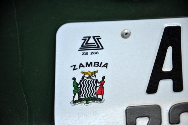 Zambian license plate