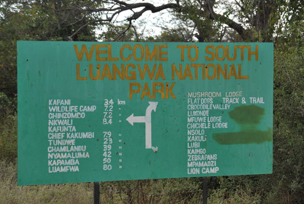 South Luangwa National Park is served by two dozen camps and lodges
