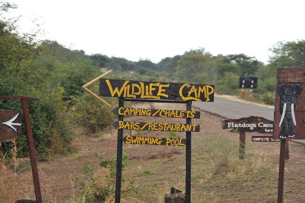 Were booked at Wildlife Camp for the next three nights