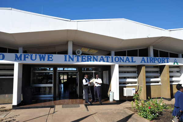 Back at Mfuwe International Airport after a three day break at South Luangwa National Park