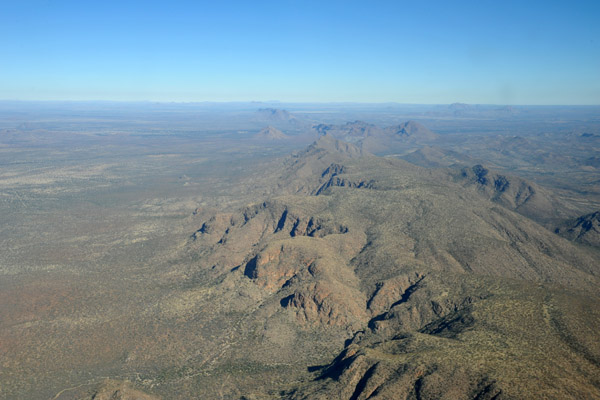 Mountains southeast of Windhoek, Namibia