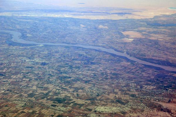 Amu Darya River valley near Urgench, Uzbekistan
