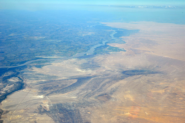 The desert to the north of Urgench, Uzbekistan