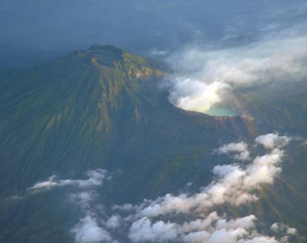 Gujung Merapi and Kawah Ijen volcanoes, Eastern Java