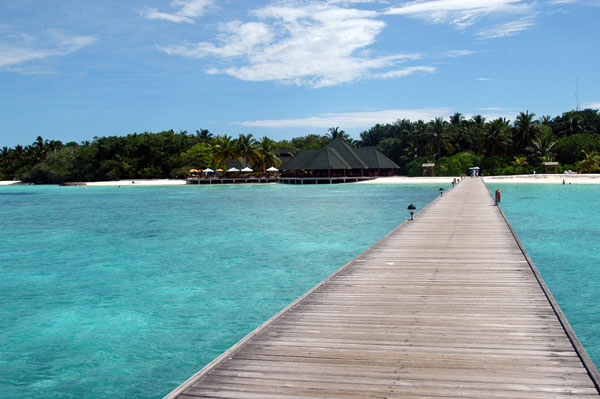 Pier from the harbor area to the main part of Paradise Island
