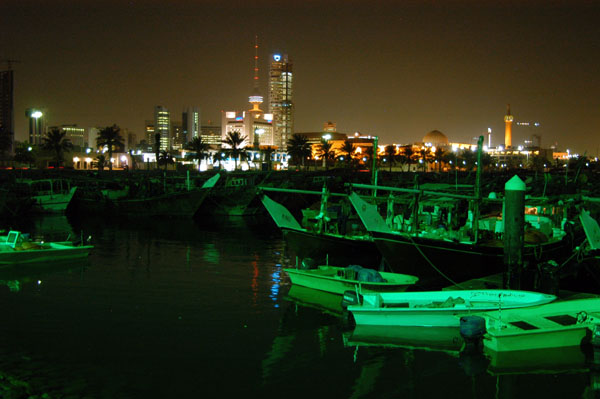 Kuwait City and the Fishing Boats Harbor