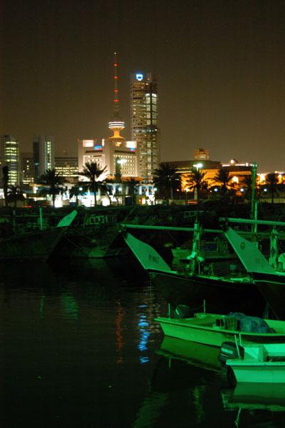 Kuwait City and the Fishing Boats Harbor