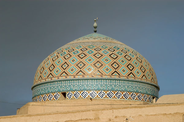 Dome of the main prayer hall of the Jameh Mosque in Yazd, 15th C.