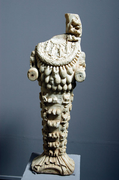 A damaged statue of Artemis 150-200 AD