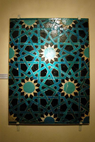 Tile with geometric pattern, Seljuk period, 13th C