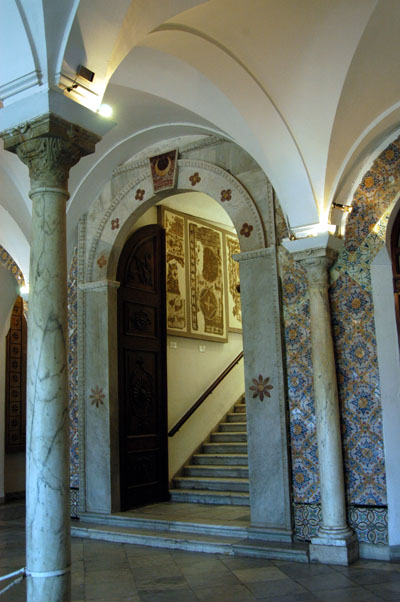 The world famous Bardo Museum of ancient mosaics and art