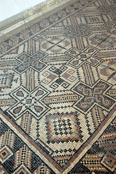 Geometric pattern floor mosaic, Ground Floor