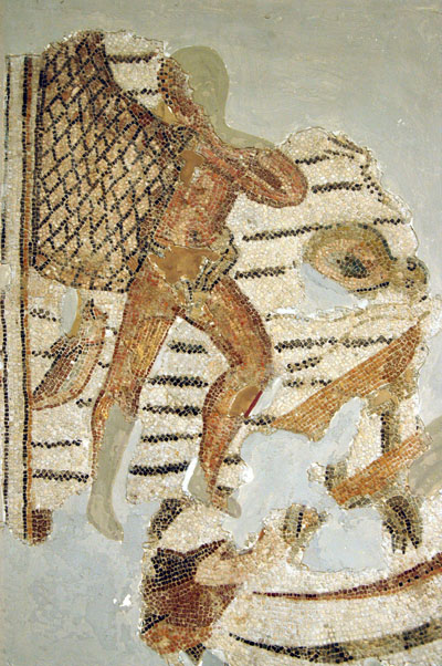 Fisherman with net, 3rd C. AD