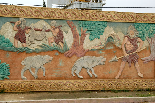 Historic scenes, Kasserine - prehistoric era