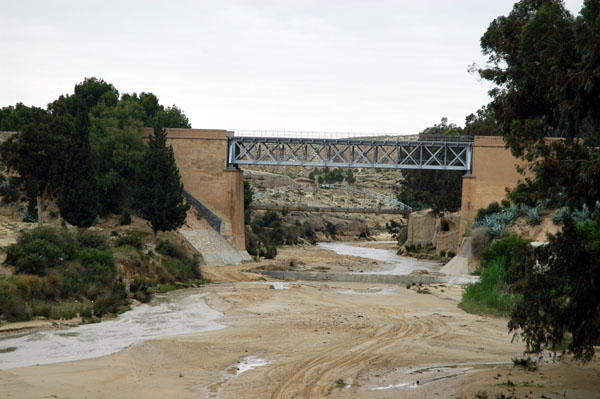 Railway bridge crossing another wadi in Kasserine