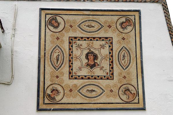 Mosaic displayed on the El Jem Municipality building