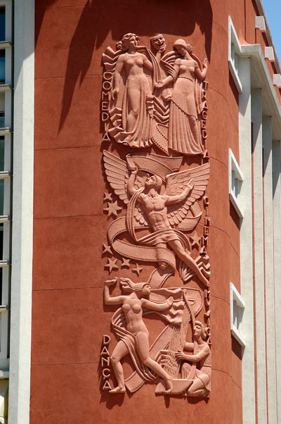 Condes Bldg detail, now Hard Rock Cafe