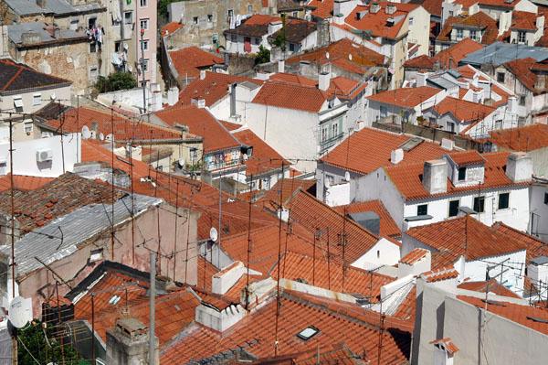 TV aerials, Alfama
