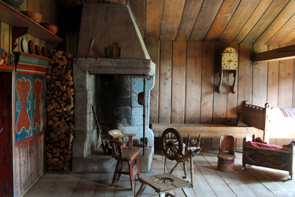 Interior of building from Vigstad (Skjåk) early 19th C