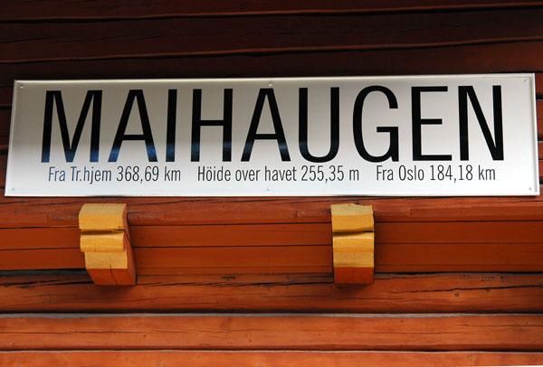 Maihaugen Railway Station 184km from Oslo, 368 from Trondheim
