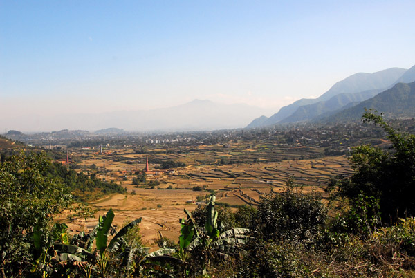 Looking east from the pass leading out of Kathmandu Valley