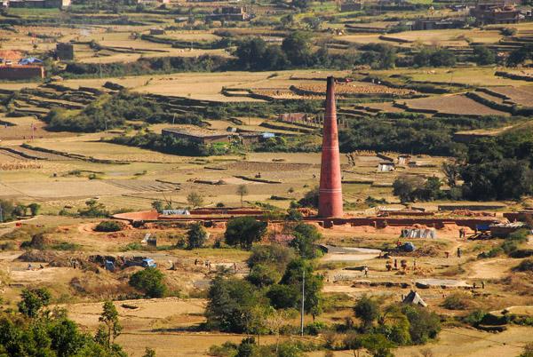 Brickworks, western edge of Kathmandu Valley