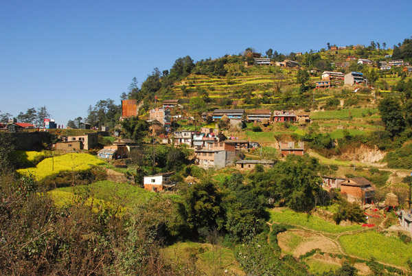 Hillside off the Prithvi Highway leading west out of Kathmandu Valley