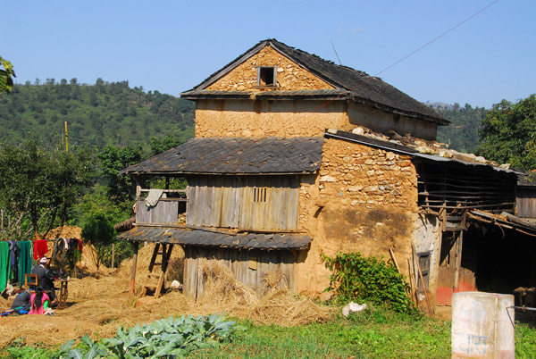 Traditional house between Damauli and Dumre, Tanahu Province