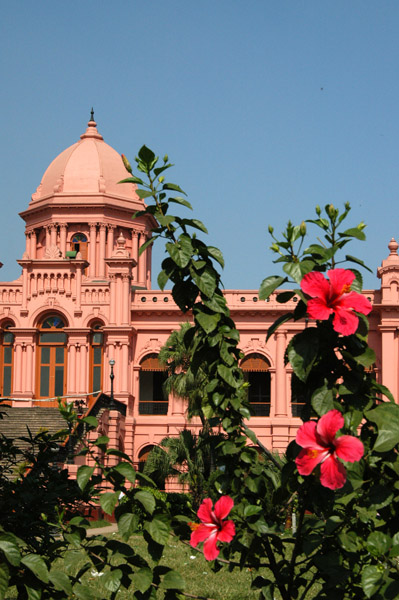 After being allowed to rot, the Ahsan Manzil was restored 1985-92