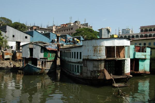 Future shipwrecks along the riverfront of Dhaka