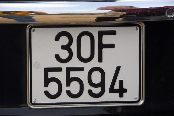 Vietnamese license plate belonging to the car we hired for the day