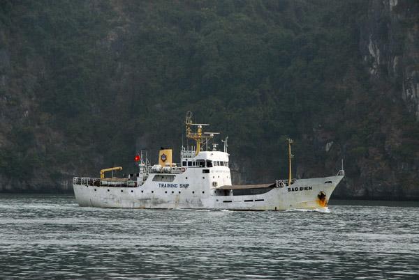 Vietnamese training ship Sao Bien, Halong Bay