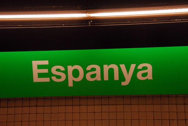 Plaça dEspanya station on the Barcelona Metro