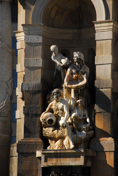 Sculpture on the Jujol Fountain by Miguel Blay Fabregas