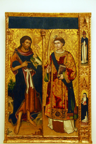 St. John the Baptist and St. Steven; attributed to Joan Antigó and Honorat Borrassà, 1445-1453
