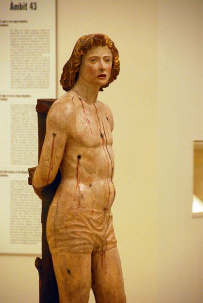 Wooden sculpture of St. Sebastian, National Art Museum of Catalonia