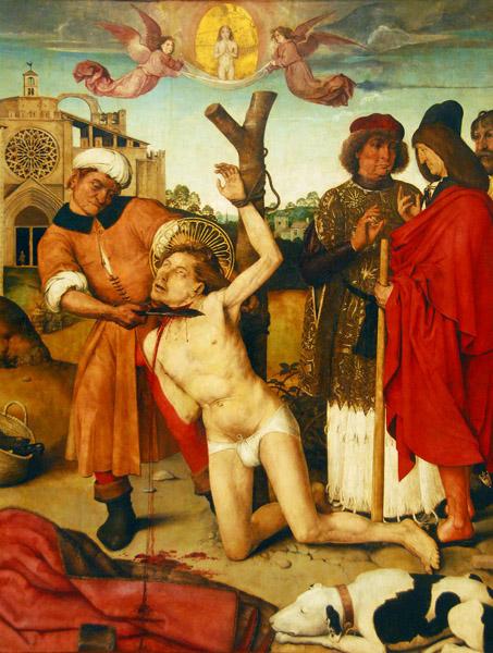Martyrdom of Saint Cucuphas (St. Cugat); Ayne Bru 1502-1507