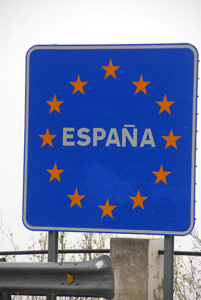 E.U. border sign - Spain