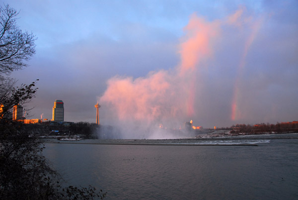 Rainbow with the mist of the Canadian Falls, Niagara