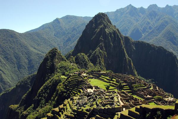 Famous view of Machu Picchu