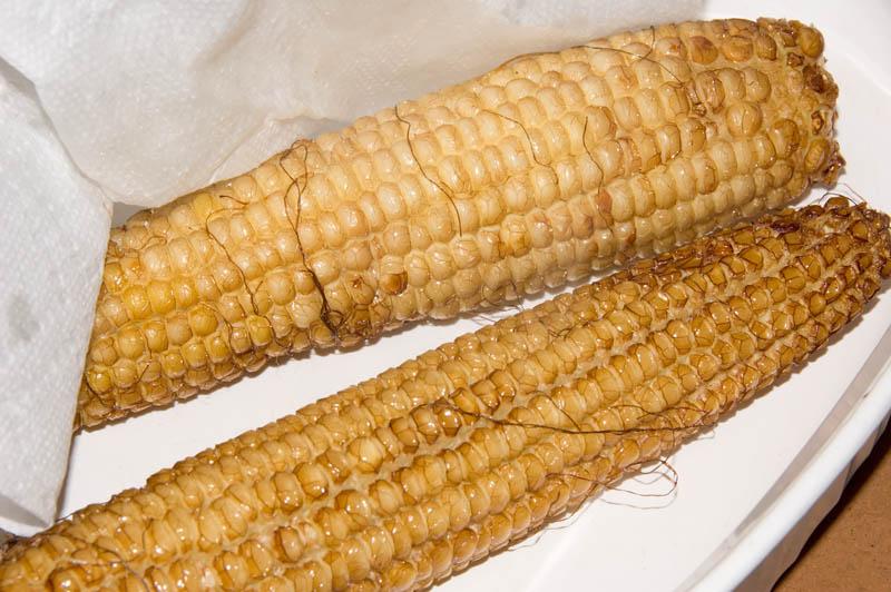 fried fresh corn on the cob