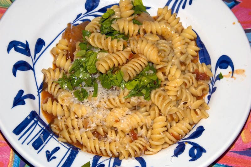 pasta with beef sauce